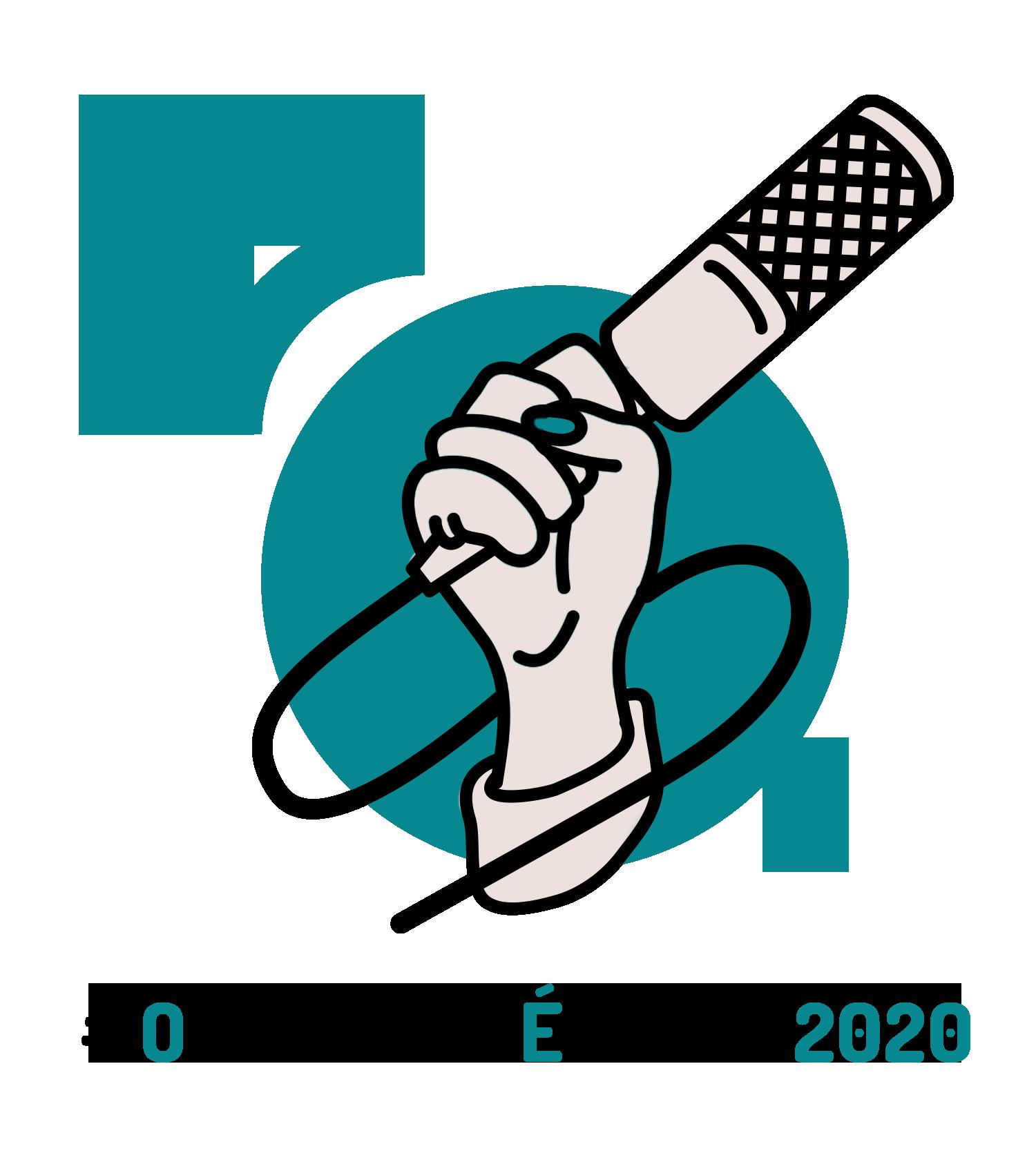 Logo #OPodcastÉDelas2020