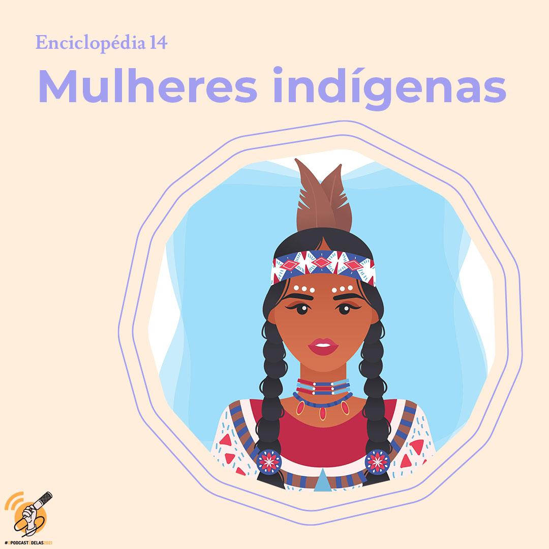 Ilustração de uma mulher indígena