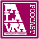 """logo do podcast. o fundo é rosa choque e dentro com fonte estilizada está escrito """"palavra substantivo feminino podcast"""" na cor branca"""